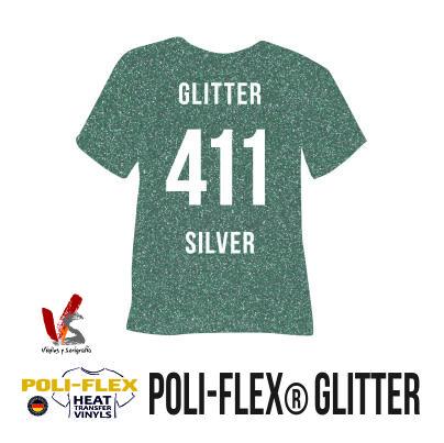 411 PLATA POLIFLEX GLITTER