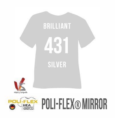431 PLATA BRILLANTE POLIFLEX MIRROR - IMAGE