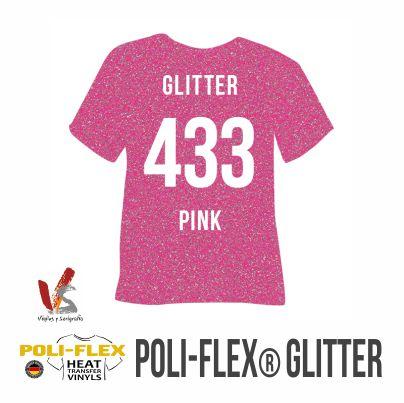 433 ROSA POLIFLEX GLITTER