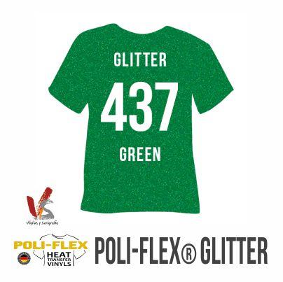 437 VERDE POLIFLEX GLITTER