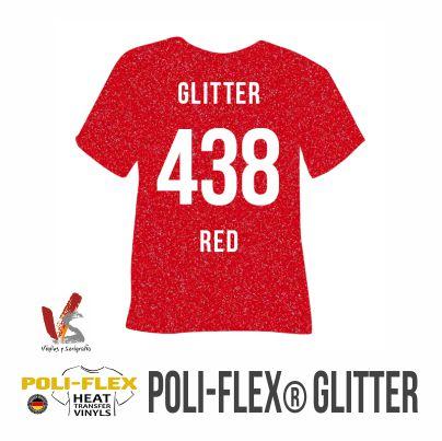 438 ROJO POLIFLEX GLITTER