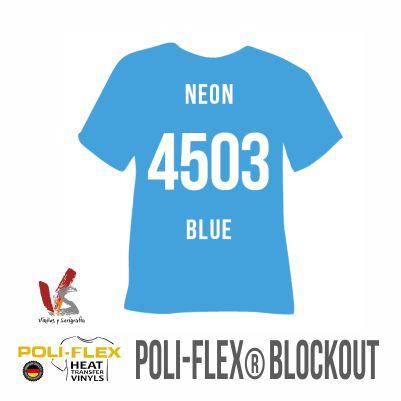 4503 AZUL NEÓN POLIFLEX BLOCKOUT