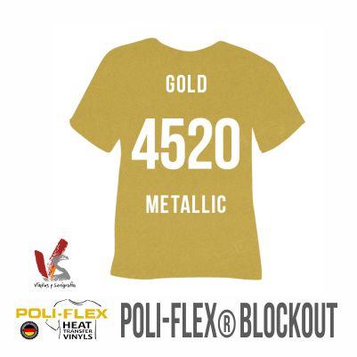 4520 ORO METÁLICO POLIFLEX BLOCKOUT