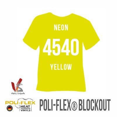 4540 AMARILLO NEÓN POLIFLEX BLOCKOUT