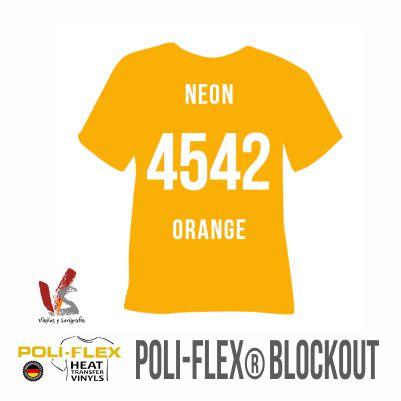 4542 NARANJA NEÓN POLIFLEX BLOCKOUT