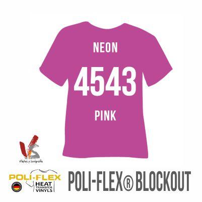 4543 ROSA NEÓN POLIFLEX BLOCKOUT