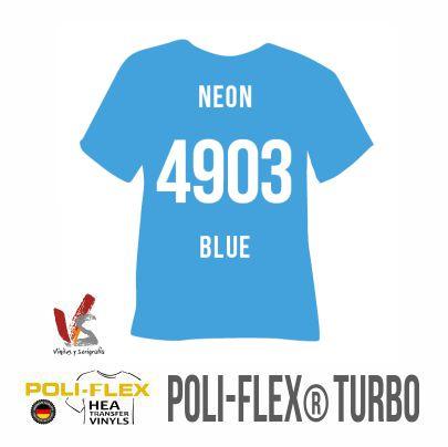 4903 AZUL NEÓN POLIFLEX TURBO