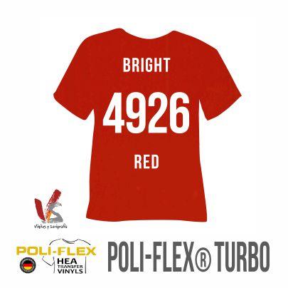 4926 ROJO BRILLANTE POLIFLEX TURBO