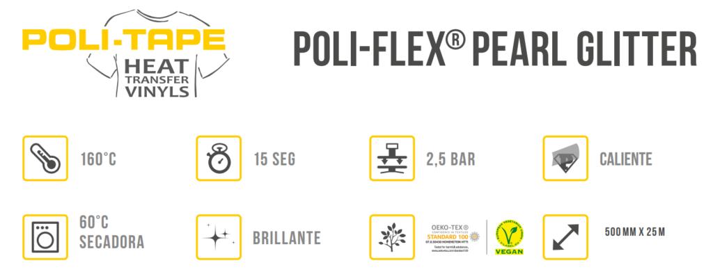 APLICACIÓN POLIFLEX PEARL GLITTER