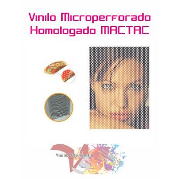 Vinilo Microperforado Homologado MACTAC - Ancho 137 cm - Vinilos y Serigrafía