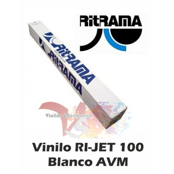 Vinilo RI-JET 100 Blanco AVM (Ancho 140 cm) - Vinilos y Serigrafía