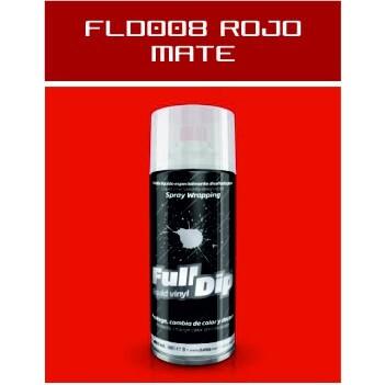 FLD008 Rojo Mate - 400 ml - Vinilos y Serigrafía