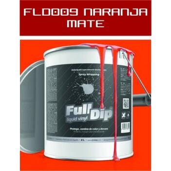 FLD009 Naranja Mate - 4 Lt - Vinilos y Serigrafía