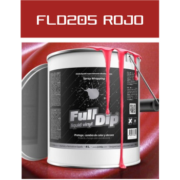 FLD205 Rojo Metalizado - 4 Lt - Vinilos y Serigrafía