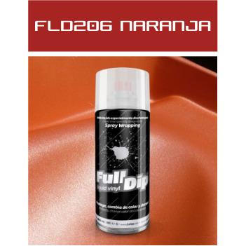 FLD206 Naranja Metalizado - 400 ml - Vinilos y Serigrafía