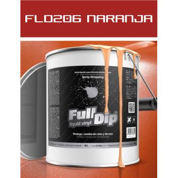 FLD206 Naranja Metalizado - 4 Lt - Vinilos y Serigrafía