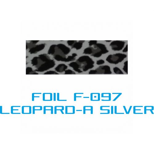 Lámina Foil F-096 LEOPARD-A SILVER - Vinilos y Serigrafía