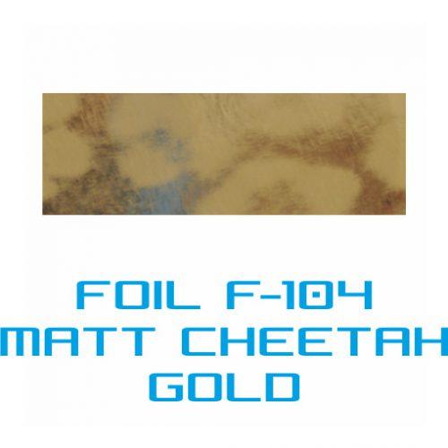 Lámina Foil F-104 MATT CHEETAH GOLD - Vinilos y Serigrafía