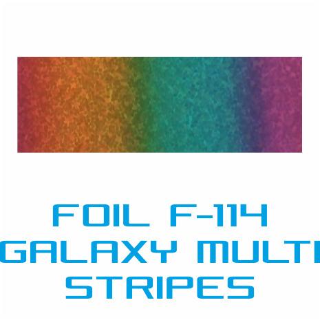 Lámina Foil F-114 GALAXY MULTI STRIPES - Vinilos y Serigrafía