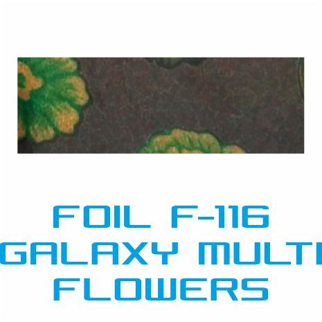 Lámina Foil F-116 GALAXY MULTI FLOWERS - Vinilos y Serigrafía