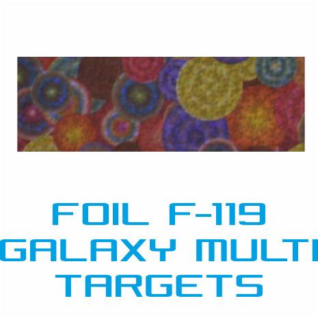 Lámina Foil F-119 GALAXY MULTI TARGETS - Vinilos y Serigrafía