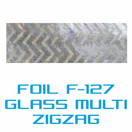 Lámina Foil F-127 GLASS MULTI ZIGZAG - Vinilos y Serigrafía