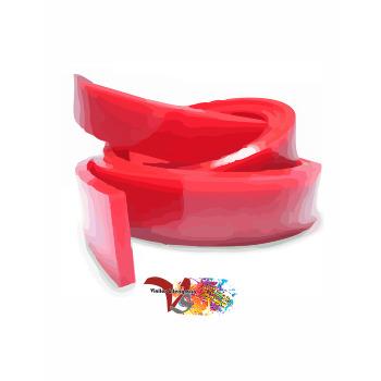 Goma Rasqueta Roja Perfil Recto 100 cm - Vinilos y Serigrafía