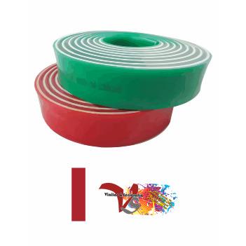 Goma Rasqueta Roja Sandwich Perfil Recto 100 cm - Vinilos y Serigrafía