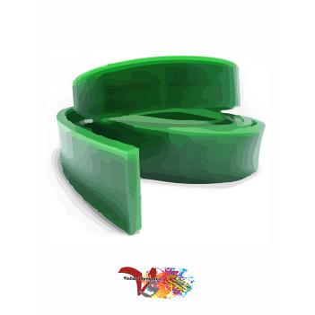 Goma Rasqueta Verde Perfil Recto 100 cm - Vinilos y Serigrafía