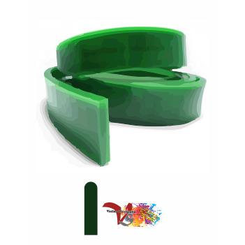 Goma Rasqueta Verde Perfil Redondo 100 cm - Vinilos y Serigrafía