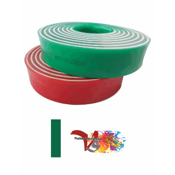 Goma Rasqueta Verde Sandwich Perfil Recto 100 cm - Vinilos y Serigrafía