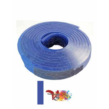 Goma Rasqueta Azul Perfil Recto 100 cm - Vinilos y Serigrafía