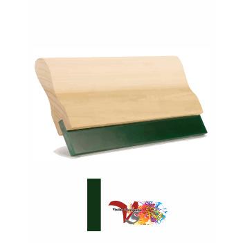 Rasqueta Madera con Goma Verde Perfil Recto - Vinilos y Serigrafía