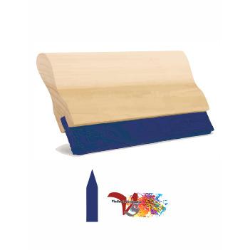 Rasqueta Madera con Goma Azul Perfil Lanza - Vinilos y Serigrafía