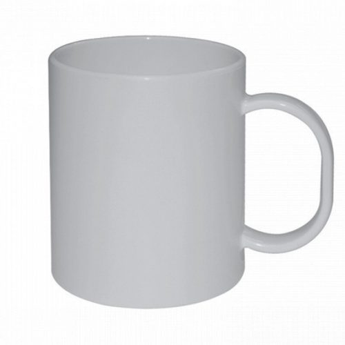 Taza Blanca Plástico
