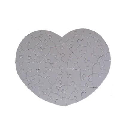 Puzzle Corazón de Cartón Sublimación - Vinilos y Serigrafía