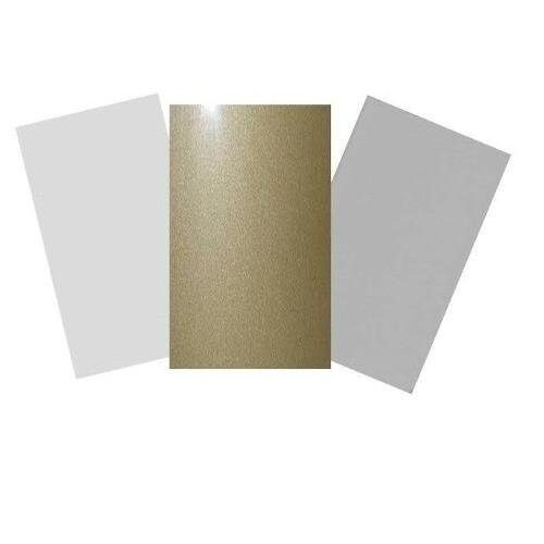 Placa Aluminio 60 x 30 cm Plata Purpurina Sublimación - Vinilos y Serigrafía