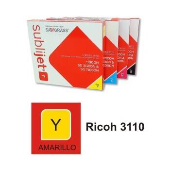 Cartucho Amarillo Sublijet R Ricoh SG 3110/ SG 7100 - Vinilos y Serigrafía