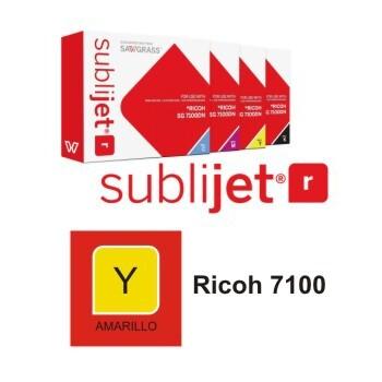 Cartucho Amarillo Sublijet R Ricoh SG 7100 A3 - Vinilos y Serigrafía