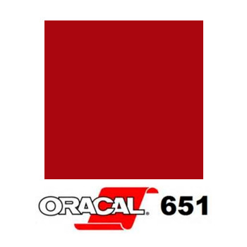 030 Rojo Oscuro 651 - Ancho 63 cm - Vinilos y Serigrafía