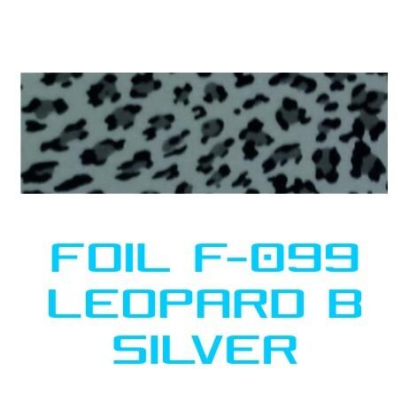 Lámina Foil F-099 LEOPARD B SILVER - Vinilos y Serigrafía