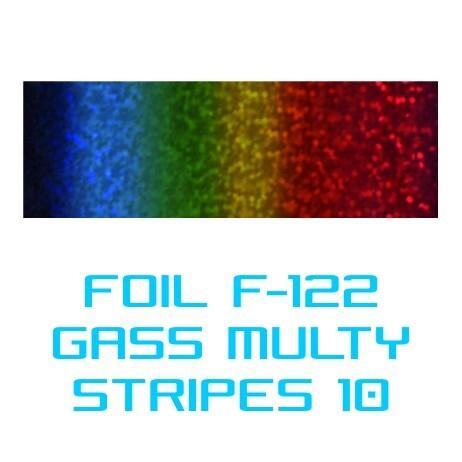 Lámina Foil F-122 GLASS MULTI STRIPES 10 - Vinilos y Serigrafía