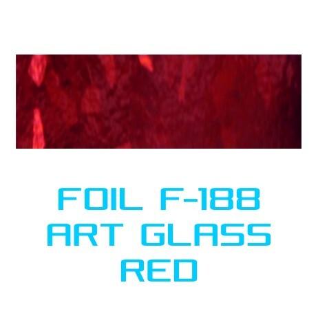 Lámina Foil F-188 ART GLASS RED - Vinilos y Serigrafía