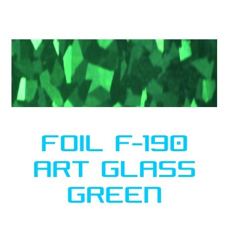 Lámina Foil F-190 ART GLASS GREEN - Vinilos y Serigrafía