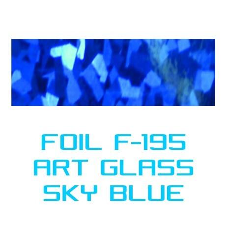 Lámina Foil F-195 ART GLASS SKY BLUE - Vinilos y Serigrafía