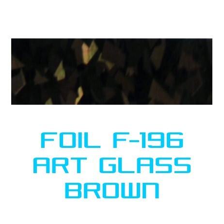 Lámina Foil F-196 ART GLASS BROWN - Vinilos y Serigrafía