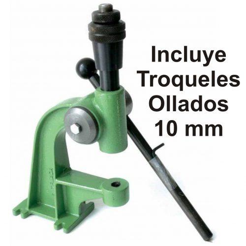 Olladora Manual T-4 + Troquel Ollados Níquel 10 mm - Vinilos y Serigrafía