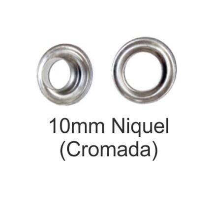Ollado + Arandela Níquel 10 mm (500 udes) - Vinilos y Serigrafía