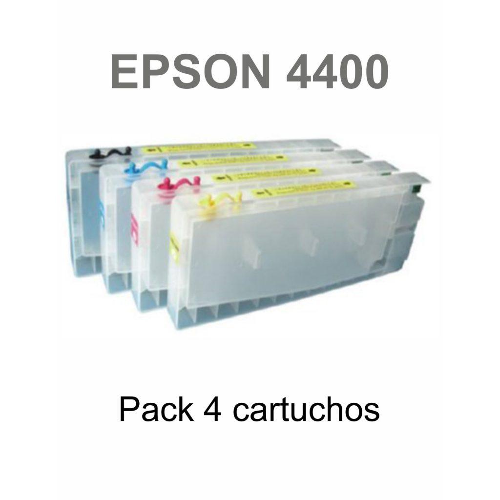 Pack Cartuchos Rellanables Epson 4400 - Vinilos y Serigrafía
