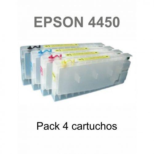 Pack Cartuchos Rellanables Epson 4450 - Vinilos y Serigrafía